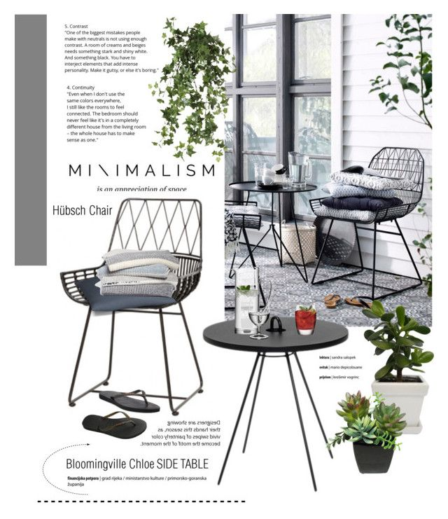 """""""Litle Patio"""" by cruzeirodotejo ❤ liked on Polyvore featuring interior, interiors, interior design, home, home decor, interior decorating, Hübsch, OKA, Havaianas and Barefoot Dreams"""