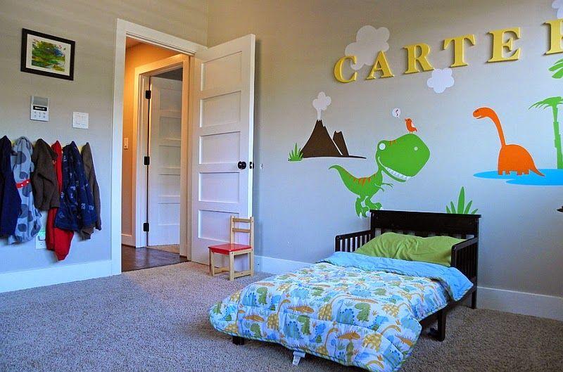 Dormitorio de Niños decorado con Dinosaurios | cama de niño ...