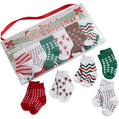 Baby Aspen The 12 Days Of Christmas Holiday Baby Socks Gift Set Multi 0 6 Months Blast Groceries Baby Socks Gift Set Baby Christmas Gifts Holiday Baby