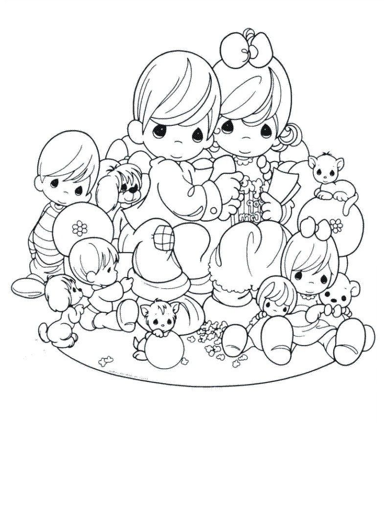 Free Printable Precious Moments Coloring Pages For Kids | Precious ...