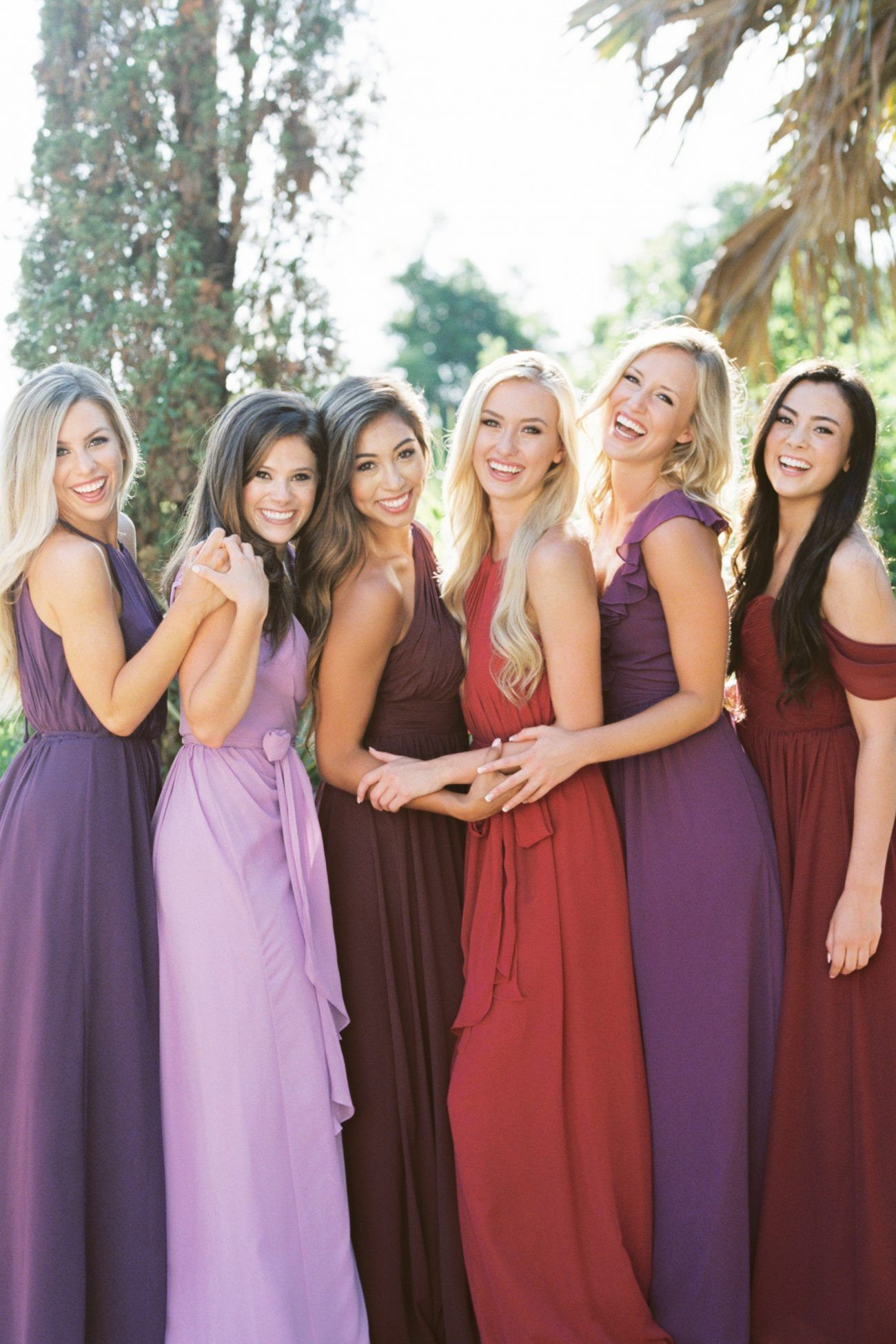 a5d3949eb9 What a beautiful selection of berry and purple colors of bridesmaid dresses  from @Revelry! #revelry #bridesmaid #bridesmaiddresses