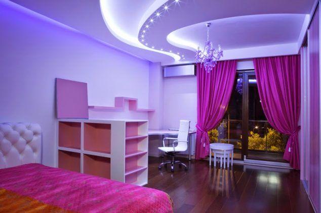 13 Pink Gypsum Board Design for Girl Kids Room That Looks Impressive
