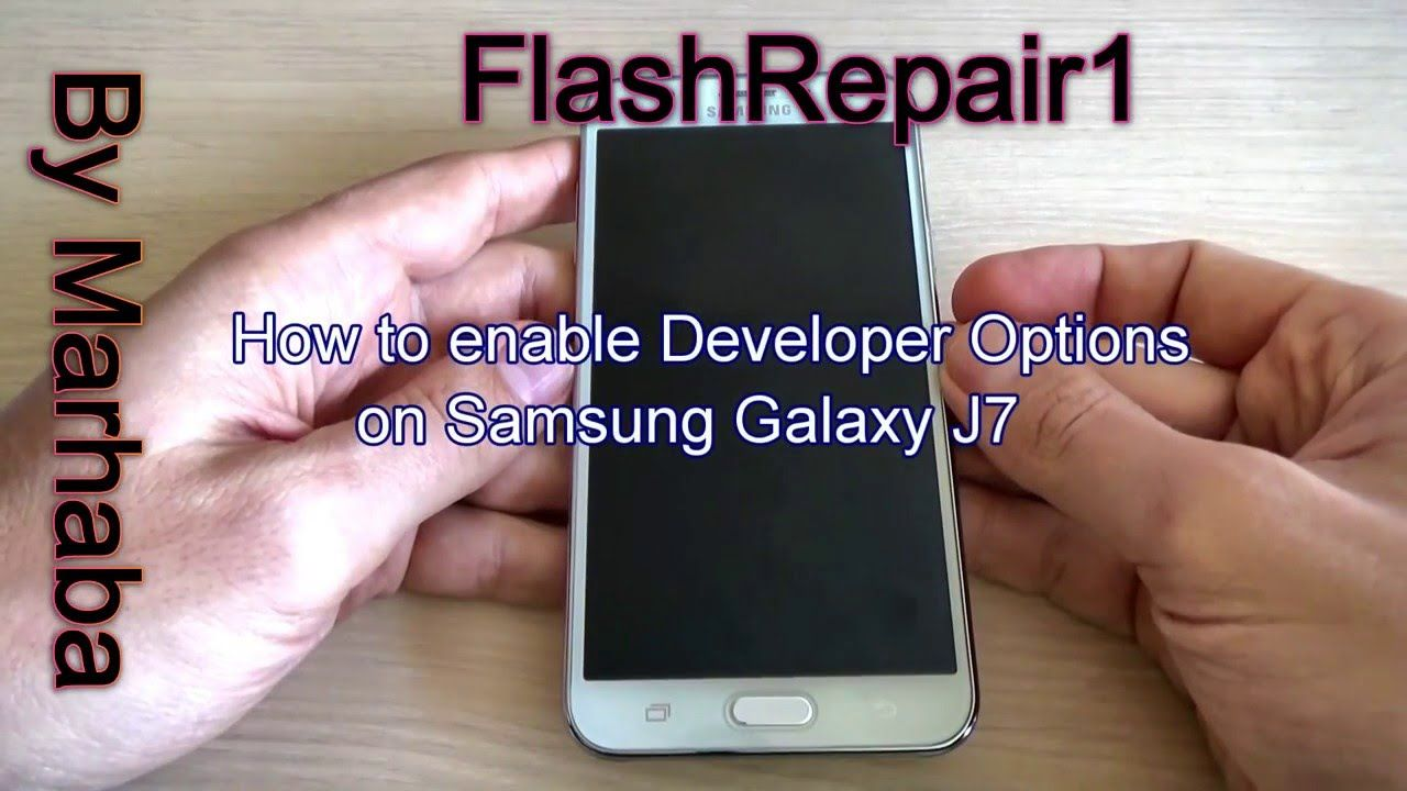 Enable Developer Options on Samsung Galaxy J7 J700F Android 5 1 1