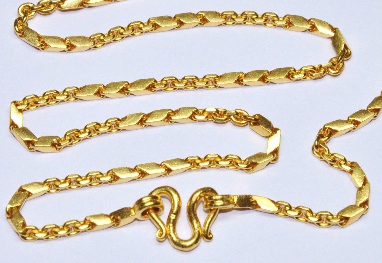 w itm link solid necklace clasp gold inch miami chains chain real cuban men