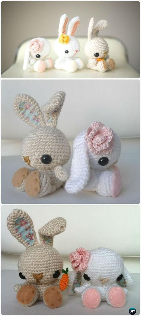 Crochet Amigurumi Spring Bunny Toy Free Patterns | Crochet projects ...