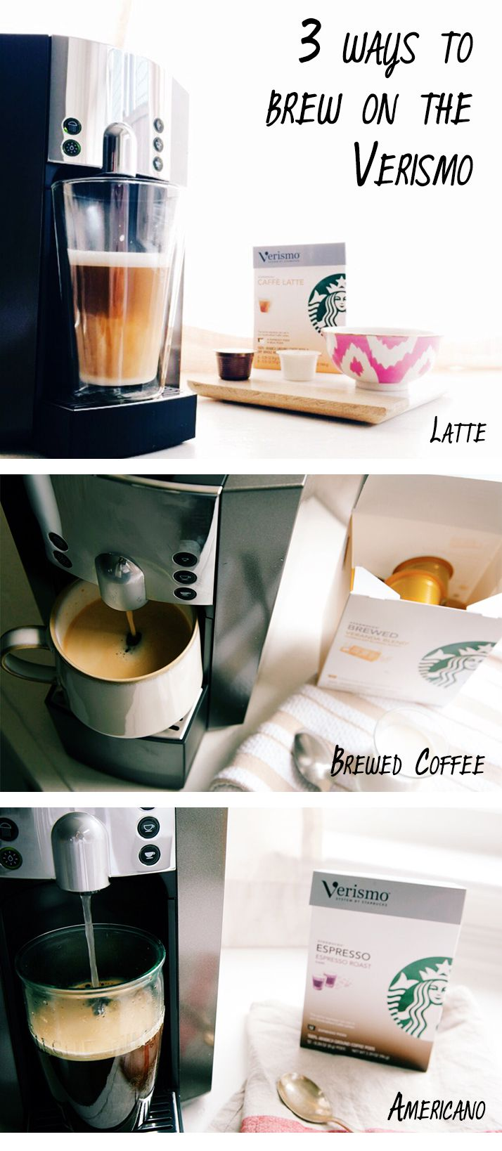 The new Verismo 600 has a hot water button making Americanos easy ...