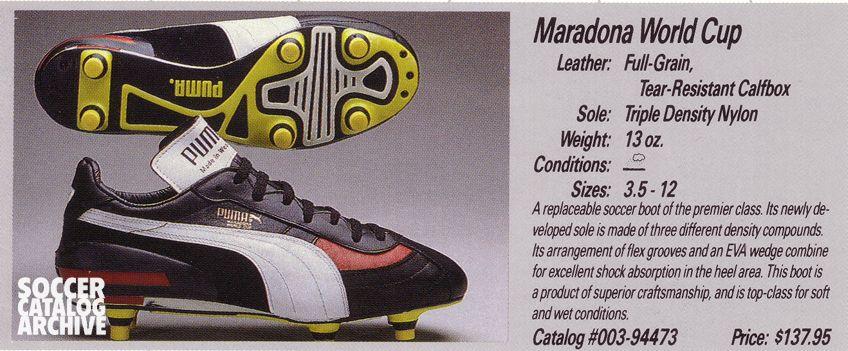 profesional mejor calificado mejor calidad brillante n color Puma Maradona World Cup boots | Soccer boots, Football boots ...