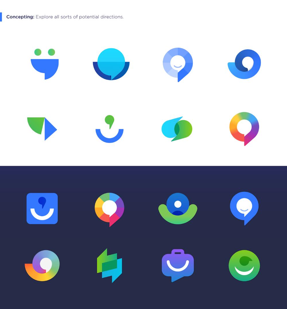 Intuo Logo Redesign. on Behance Logo design app, App