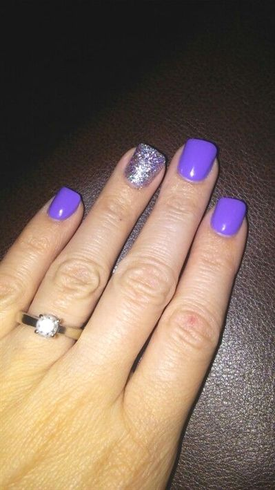 Purple 16 Easy Easter Nail Designs For Short Nails Cute Spring Nail Art Ideas For Kids Acrylicnaildesig Cute Spring Nails Purple Nails Easter Nail Designs