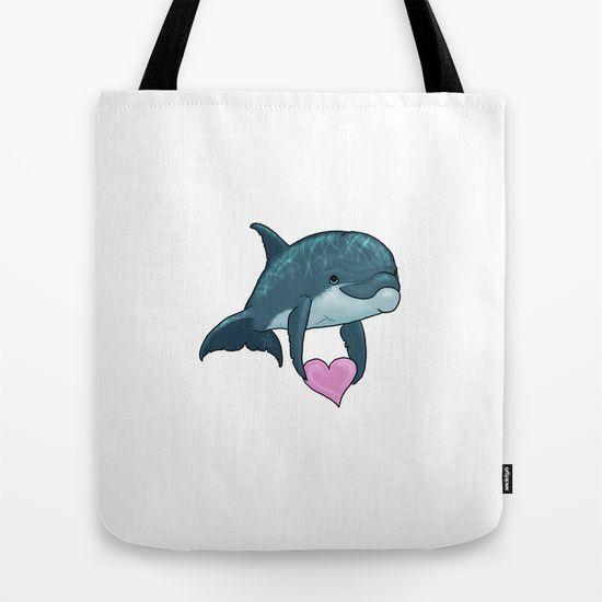 Dolphin Art / Cute / Love / Valentine Heart