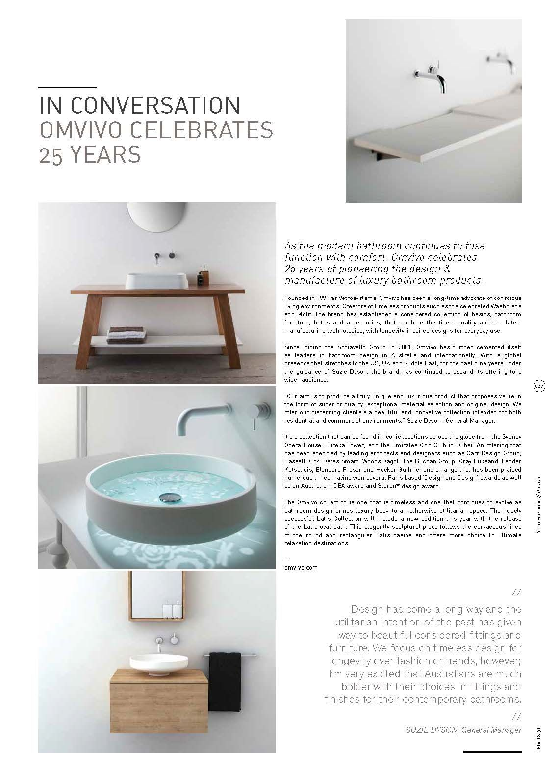 In Conversation | OMVIVO Celebrates 25 Years | Details #31, July ...