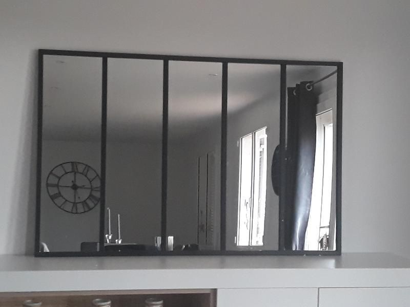 Miroir Rectangulaire Atelier Jardin Noir L 134 X H 86 Cm Leroy Merlin Miroir Rectangulaire Miroir Jardin Miroir