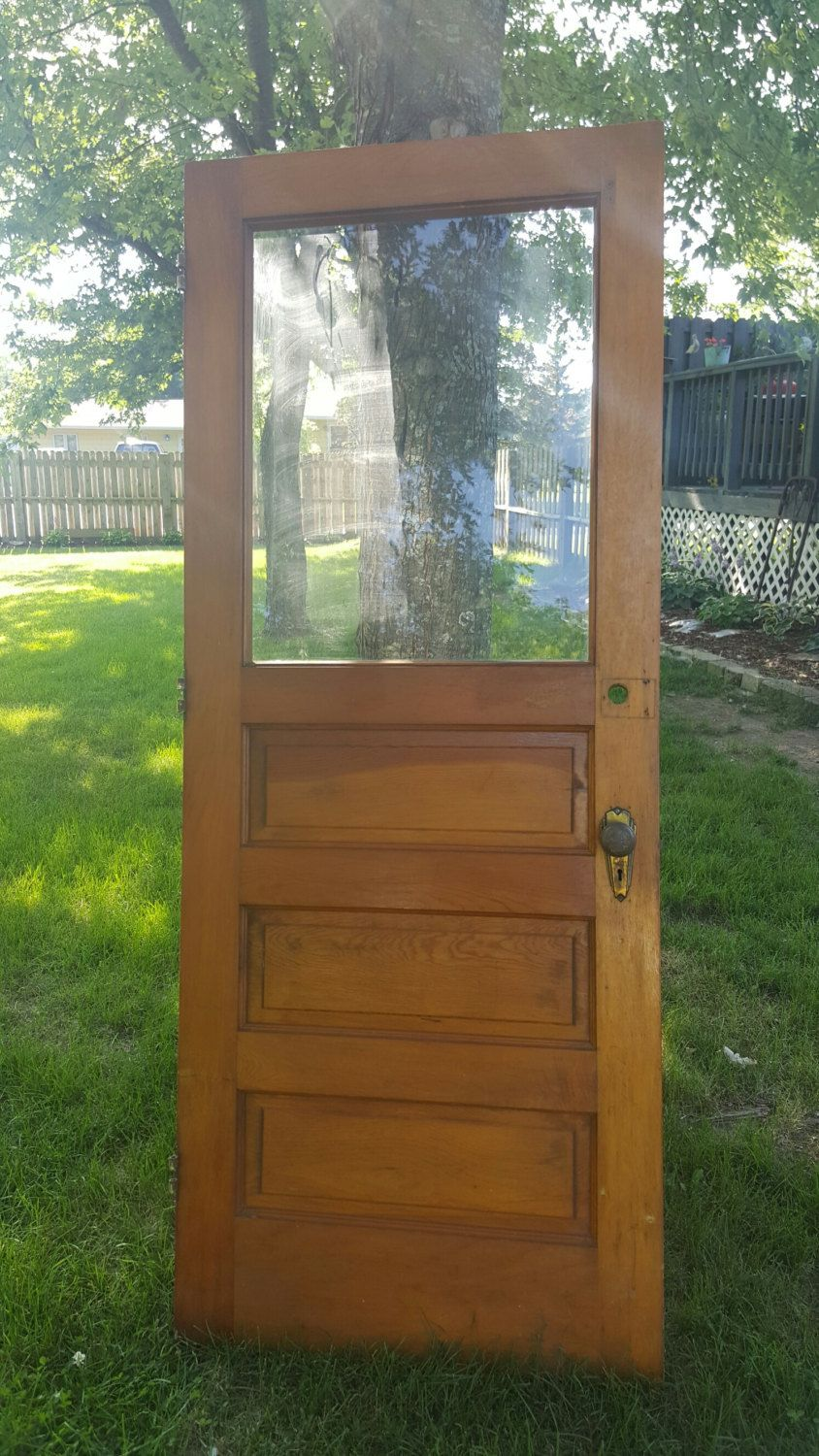 This Is A Beautiful 3 Panel Wood Exterior Door Is Aged With The