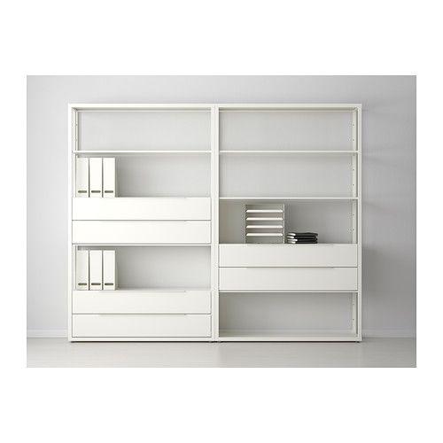 Fj lkinge tag re avec tiroirs ikea bureau pinterest tag re etagere tiroir et tiroirs ikea - Bureau avec etagere ikea ...
