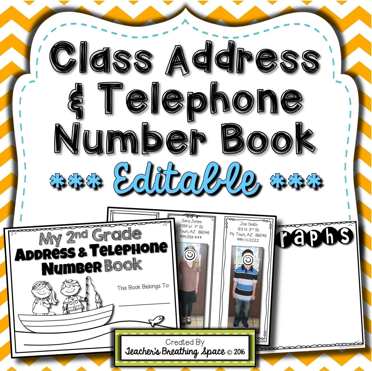 Class Address Amp Phone Number Book End Of Year Memory