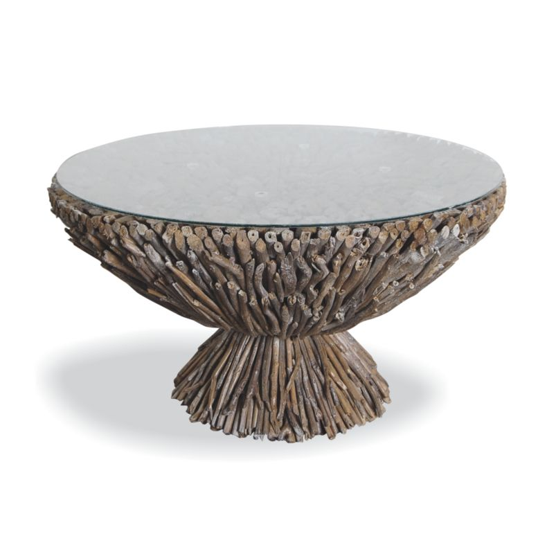 Portland Driftwood Coffee Table In 2019 Round Glass