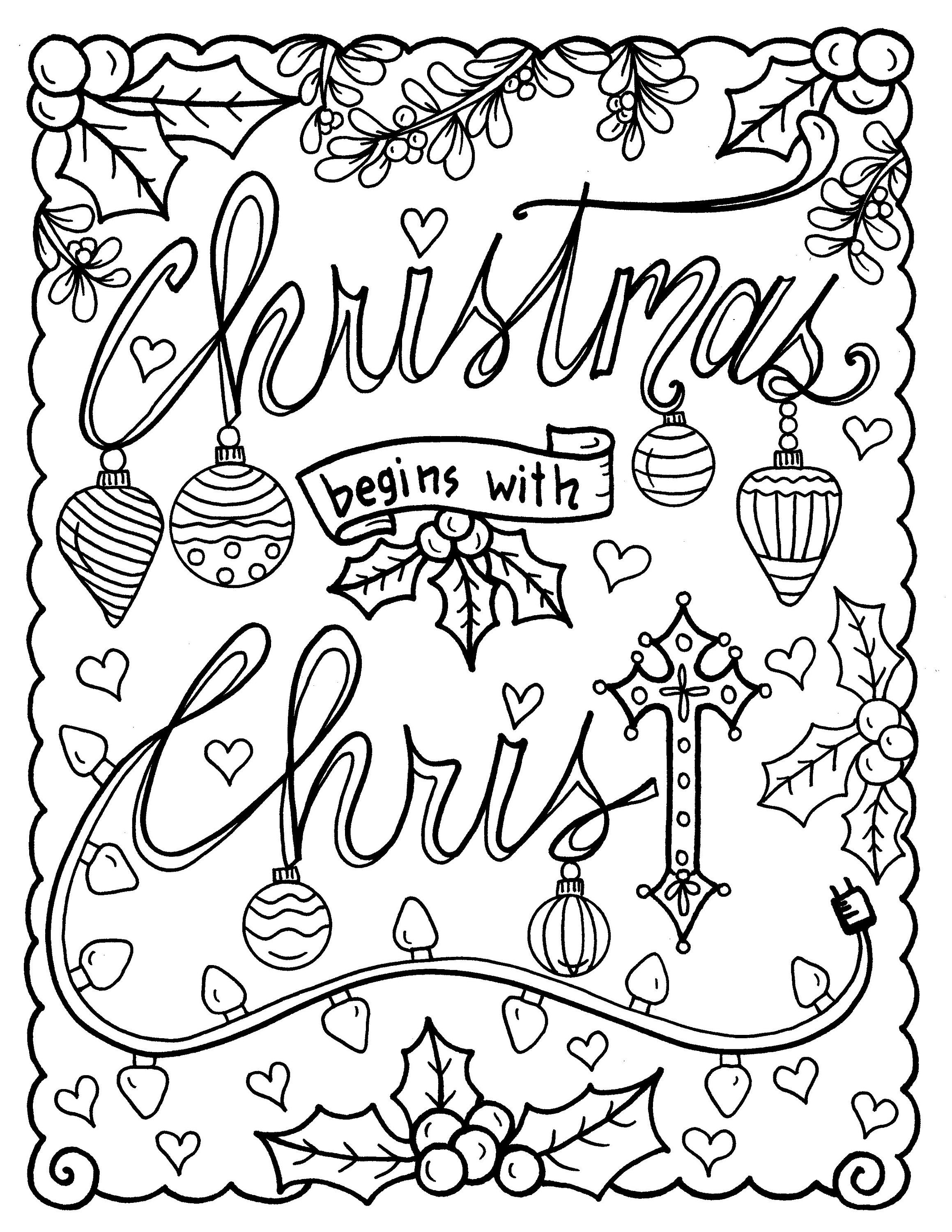 Christian Coloring Age Christmas Coloring Page Color