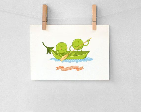 Two peas in a pod love card / Love St by SweetkeetleCards on Etsy, $3.00