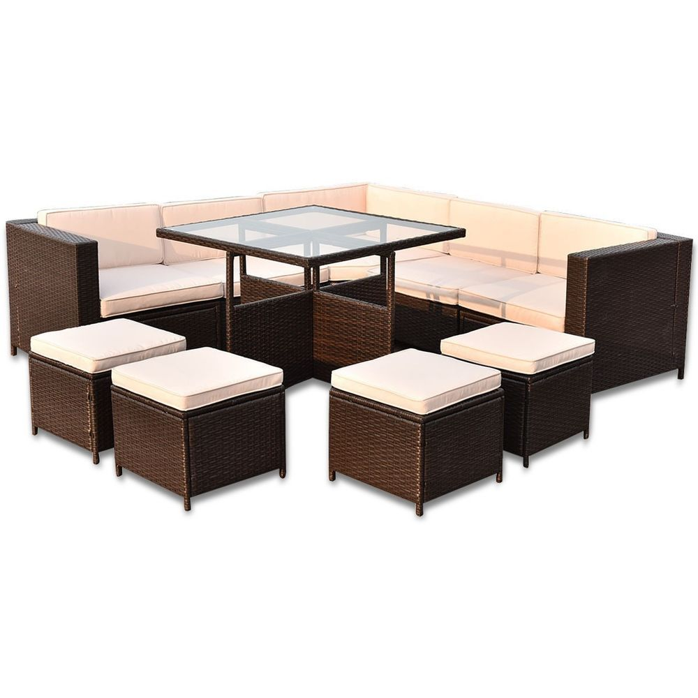 details about 5 piece outdoor patio furniture rattan dining table rh pinterest com