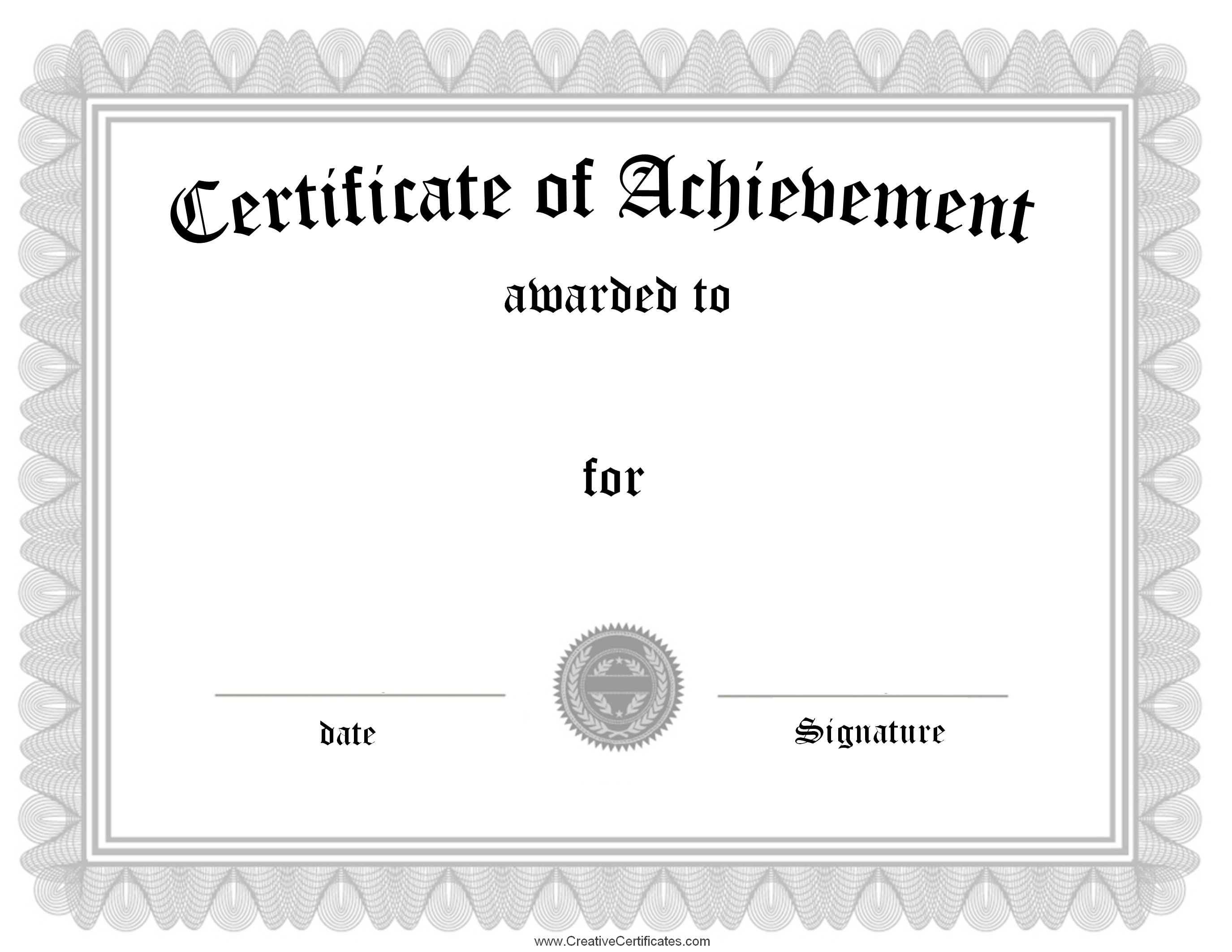 Silver certificate of achievement template samplesg 27502125 silver certificate of achievement template samplesg 2750 yadclub Choice Image