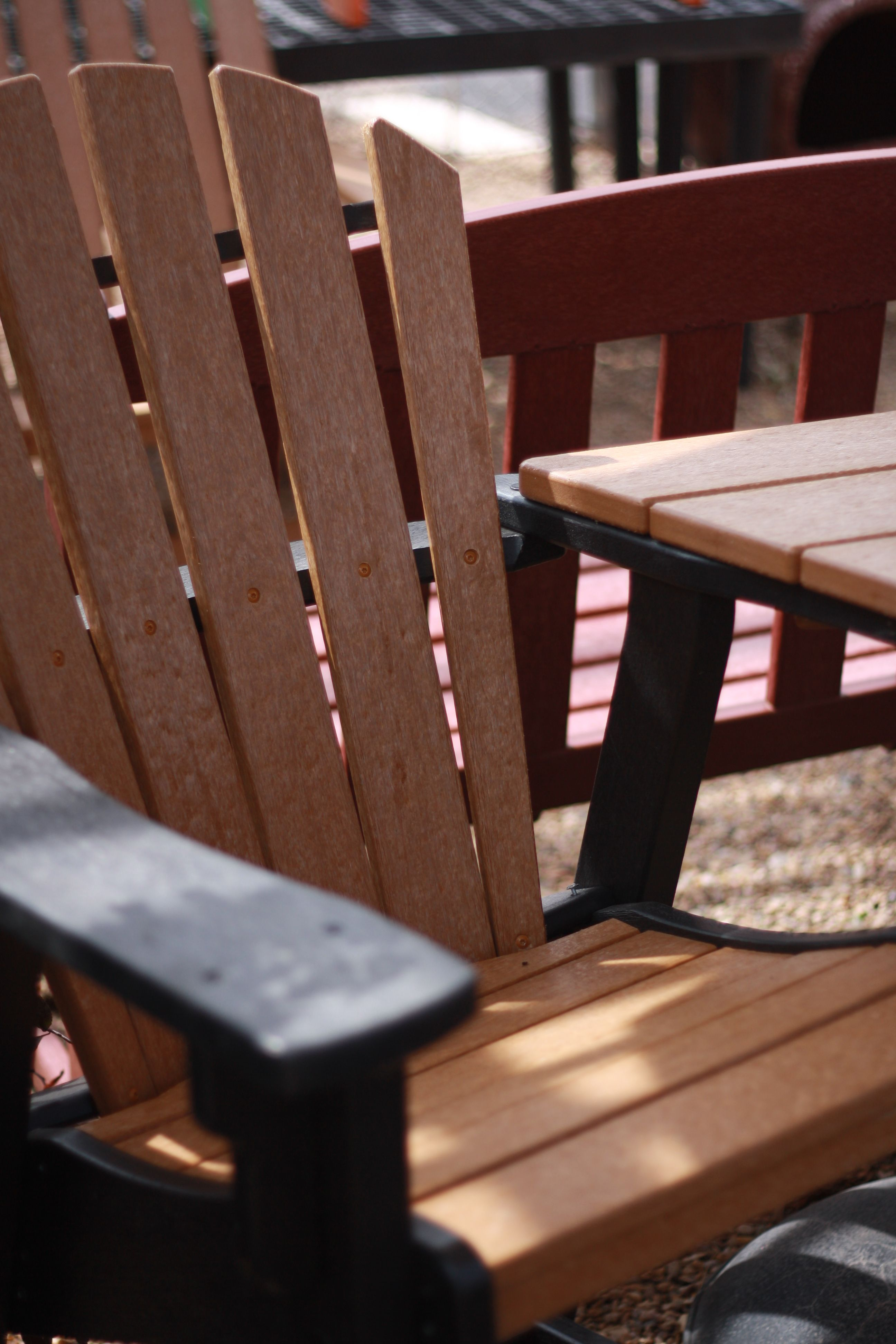 Breezesta Recycled Poly Furniture. These Adirondack chairs are made ...