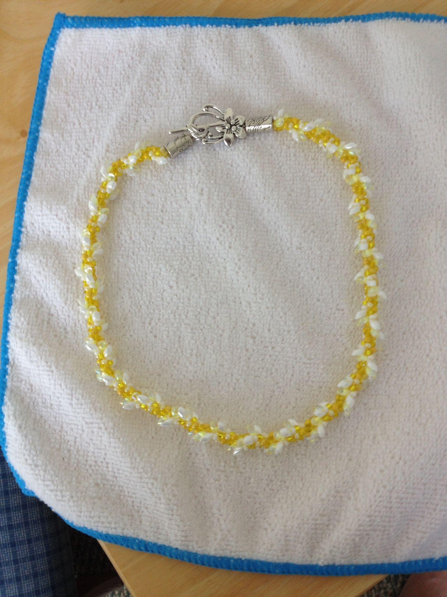 Lemon Meringue Pie Necklace...by Mary