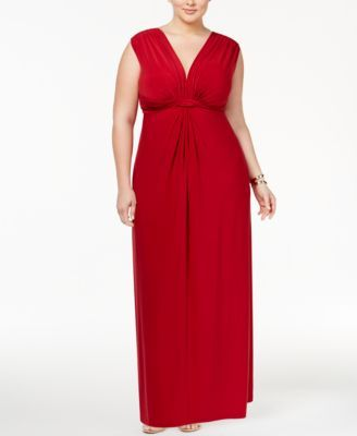 Trendy Plus Size Sleeveless Knotted Maxi Dress | Fashion | Plus size ...