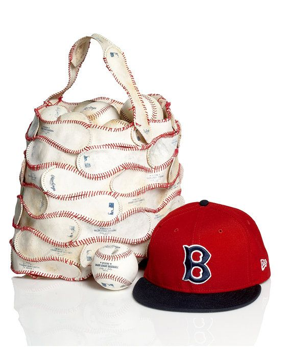 df8afc6f45b This is the coolest bag EVER! Made of Recycled Baseball covers from ...