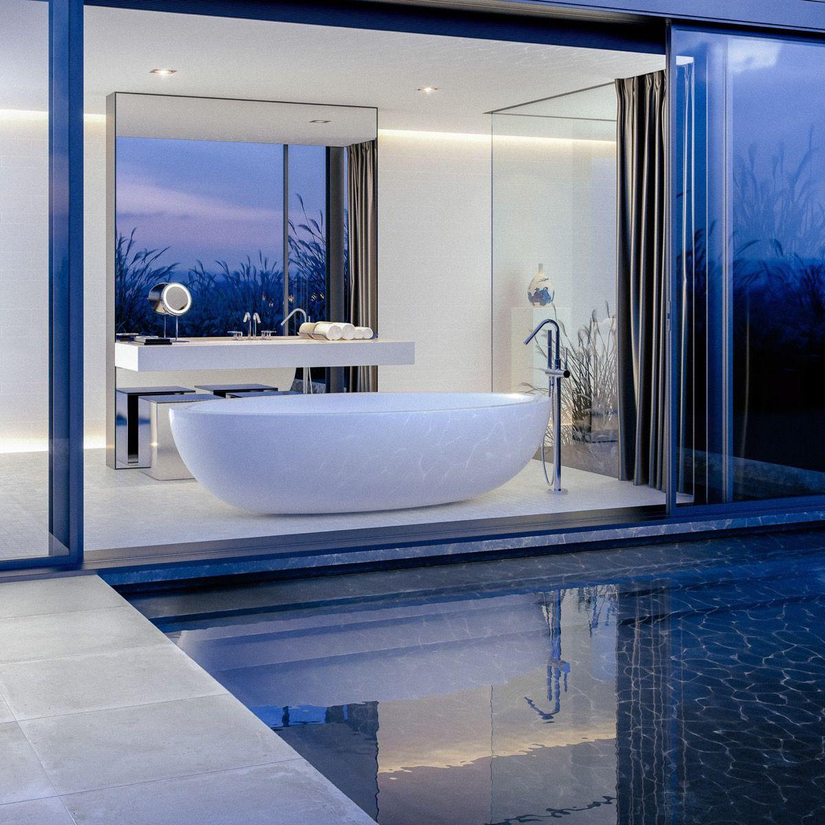 36 idées Salles de Bains avec Baignoire de Luxe | Architecture ...