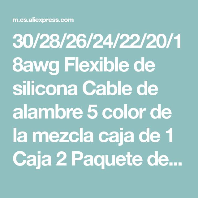 Cable el/éctrico de silicona flexible de 5 m 30//28//26//24//22//20 AWG