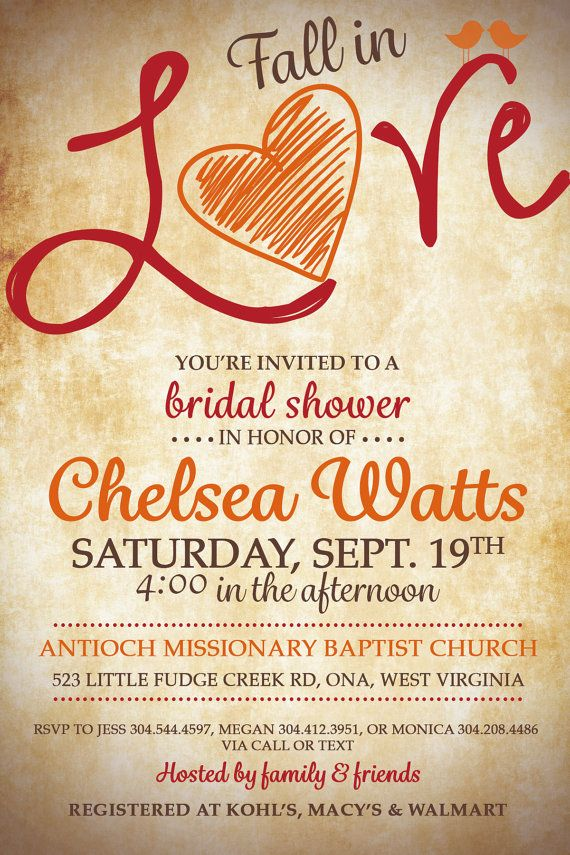 fall in love bridal shower invitation by live2loveandcreate