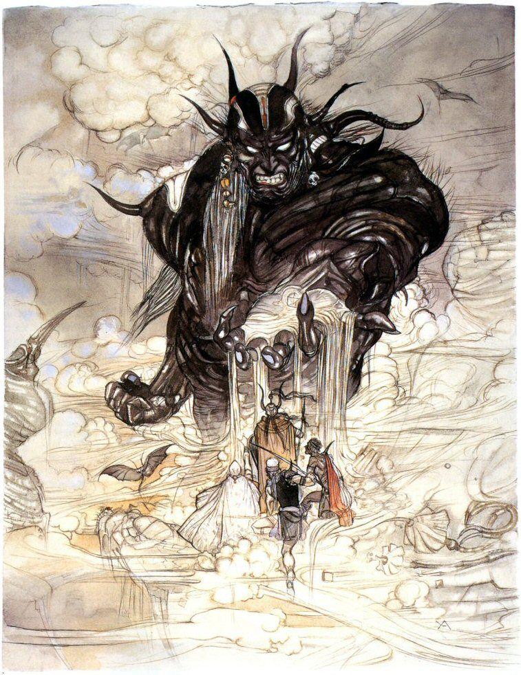 Cloudsea Djinn Fantasy Concept Art Final Fantasy Art Final Fantasy Iv