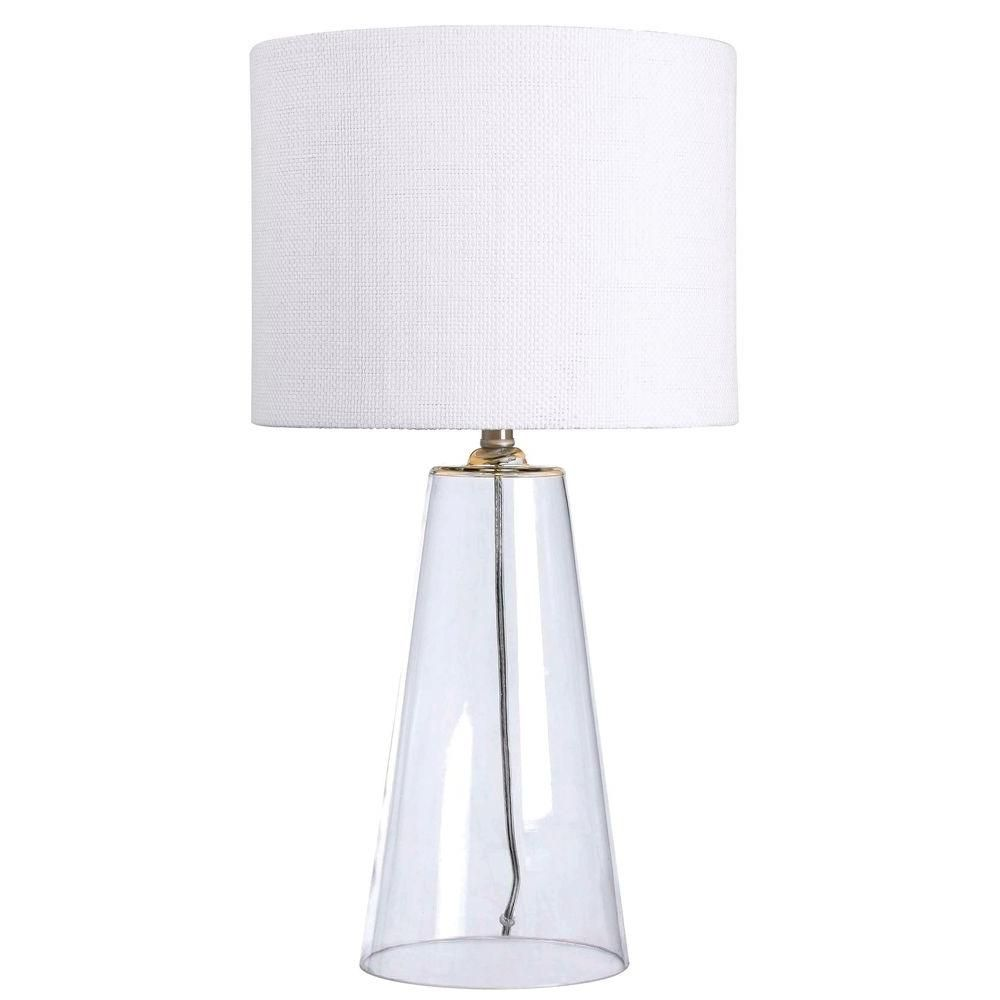 Table Lamps At Home Depot Magnificent Kenroy Home Boda 29 Inclear Glass Table Lamp  Clear Glass Table Inspiration