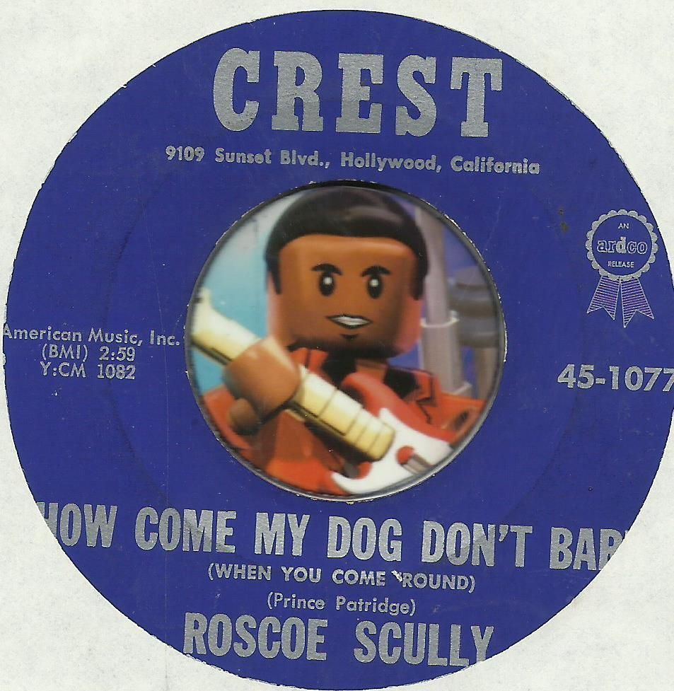 ROSCOE SCULLY How Come My Dog Dont Bark NOVELTY ROCKABILLY BOPPER 45 RPM RECORD