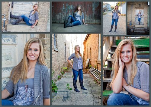 Senior girl collage