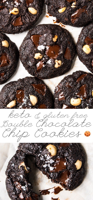 Gluten Free Keto Double Chocolate Chip Cookies Keto