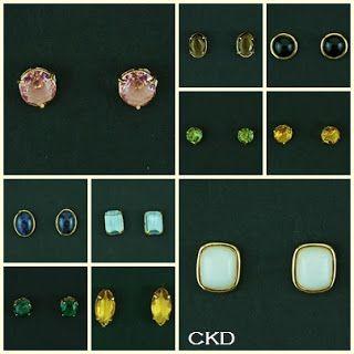Brincos básicos de pedras naturais combinam com todos os looks!!! www,ckdsemijoias.com.br