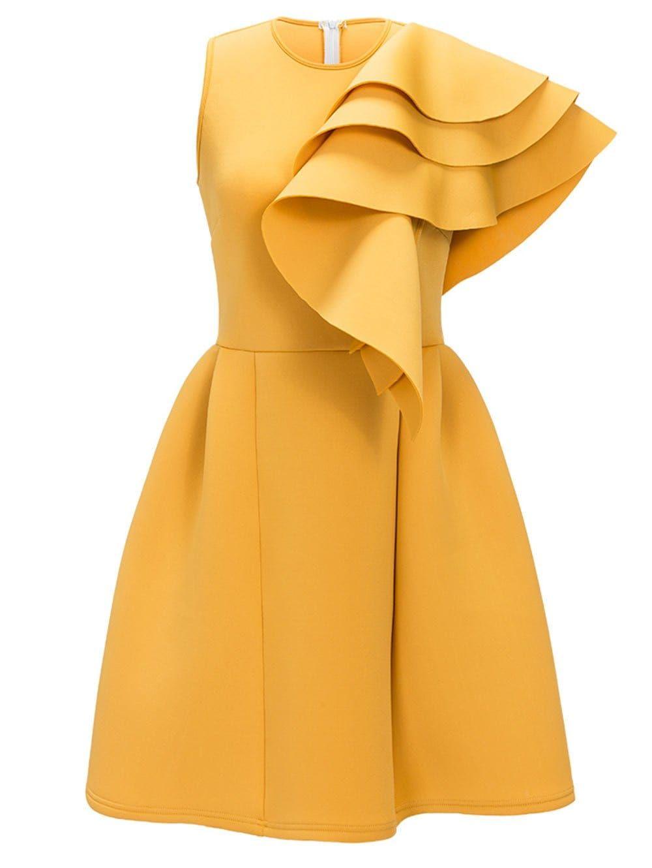 Sleeveless Ruffle Cocktail Dress Spring Fashion Pinterest
