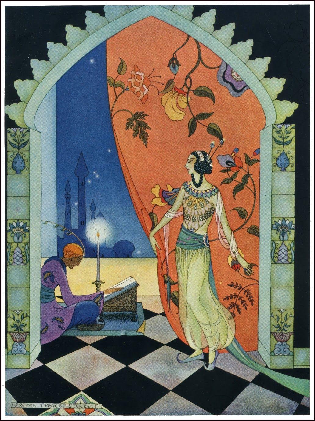 Arabian Nights Sterrett Princess S Great Beauty Marchen Kunst Art And Illustration Vintage Illustration