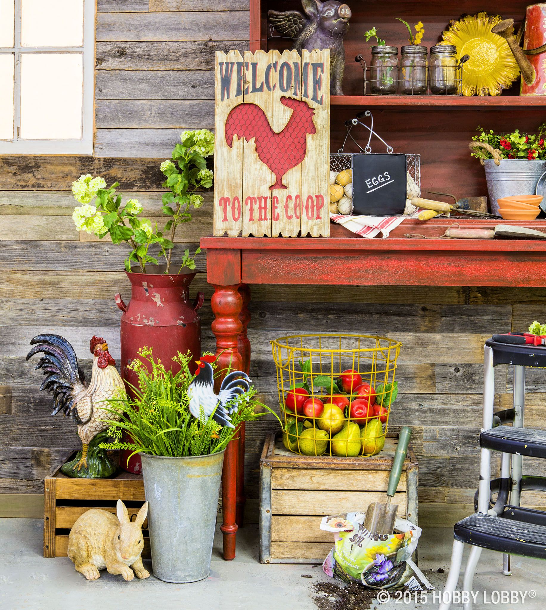Apple Home Decor: Go Farmhouse Chic! Start With Apple-red And Sunflower