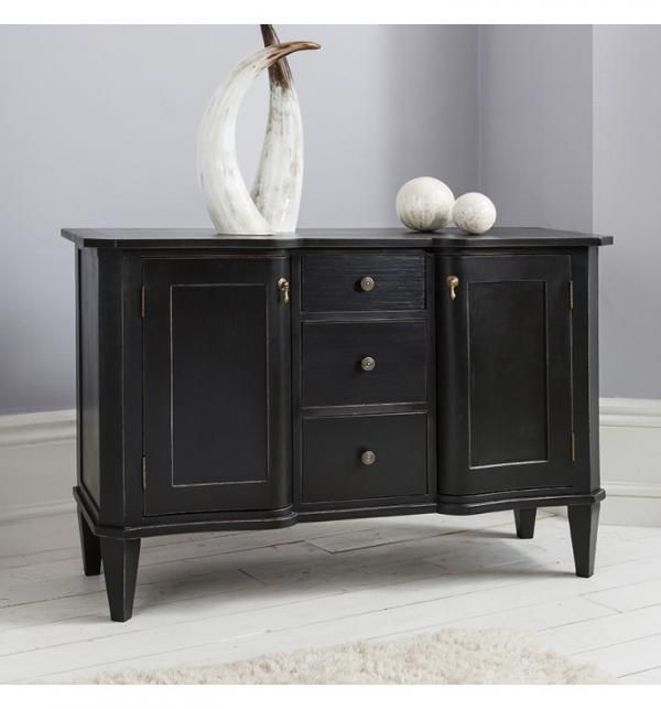 50 Cool And Creative Shabby Chic Dining Rooms: British Designed French Styled Distressed Black Sideboard