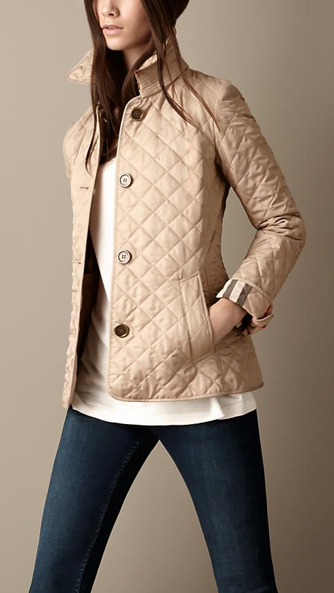 Cinched Waist Quilted Jacket Burberry My Style Pinterest