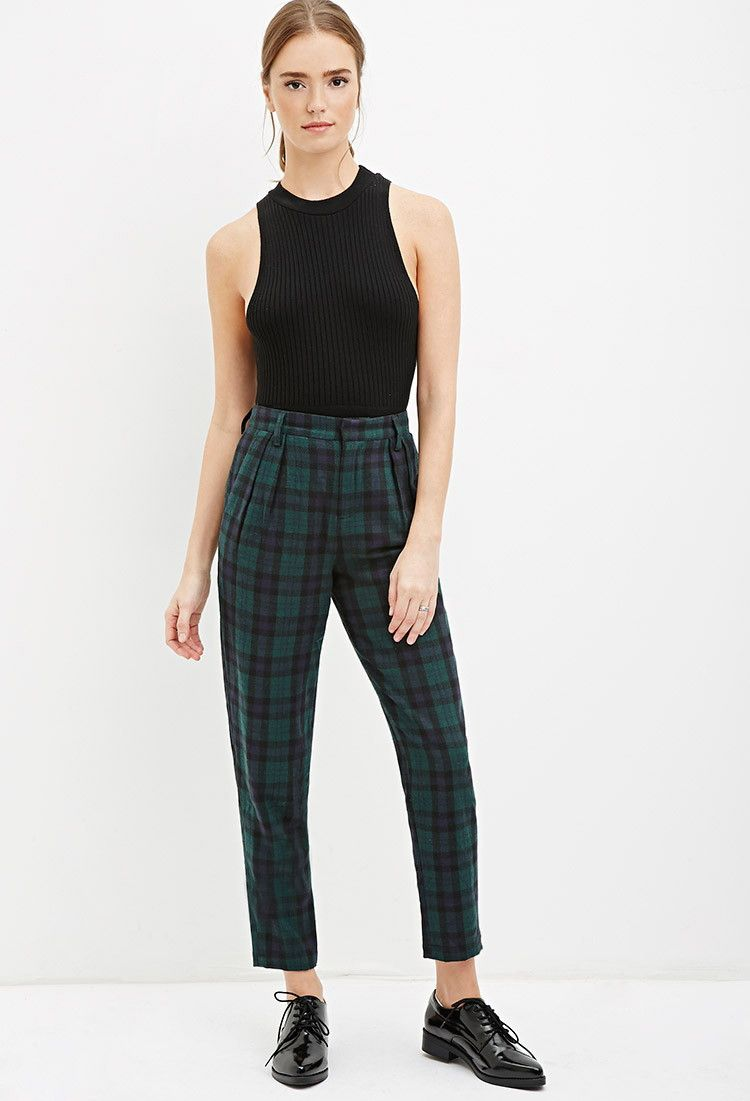 a5f0ddf0e Tartan Plaid Trousers | Forever 21 - 2000162403 | Fashion & Makeup ...