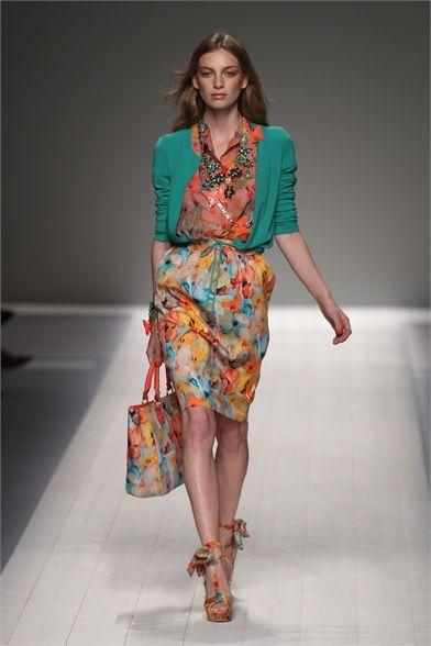 Blugirl S/S 2012 RTW - so fresh! Hate the bag though.