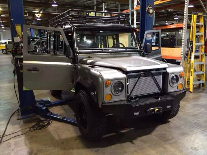 LR Defender in finishing stages at Icon 4x4