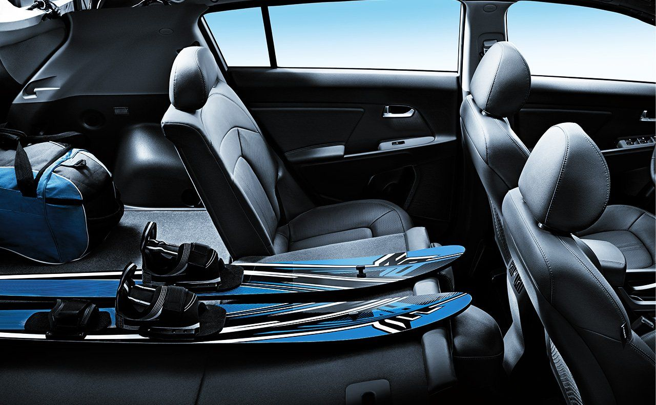 The 2015 Sportage Rear Seats Fold Down For More Storage Options