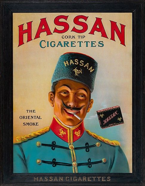 """Anonymous (American, 20th century). Hassan Cork Tip Cigarettes: The Oriental Smoke, ca. 1910. The Metropolitan Museum of Art, New York. The Jefferson R. Burdick Collection, Gift of Jefferson R. Burdick (63.351.1) 