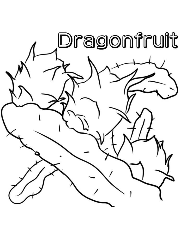 Printable Dragon Fruit Coloring Pages