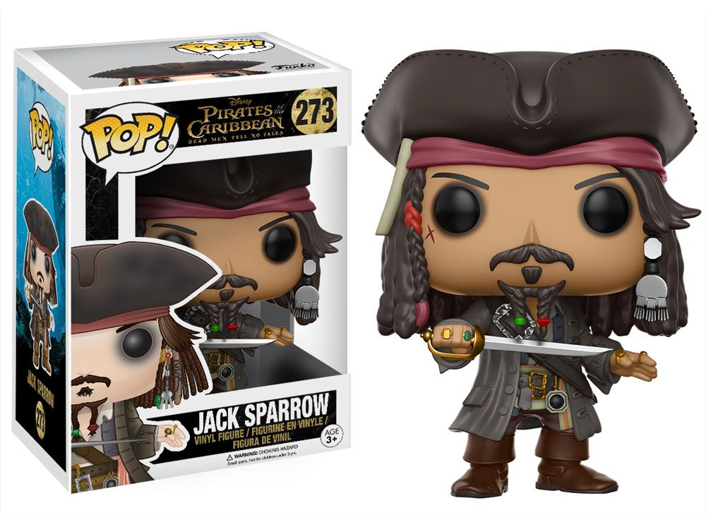 FUNKO POP DISNEY PIRATES CARIBBEAN 5 JACK SPARROW EXCLUSIVE FREE POP PROTECTOR