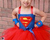 Super girl superhero tutu dress and costume